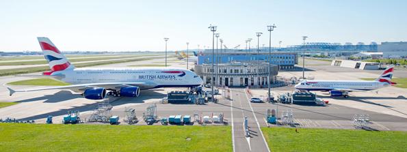 Die neuen Maschinen der Flotte von British Airways bei der Übergabe in Frankreich.