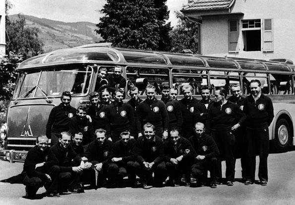 """Die siegreiche deutsche Elf, die 1954 im WM-Finale das """"Wunder von Bern"""" vollbrachte. (Foto:  Museum der Weltmeisterschaft 1954)"""