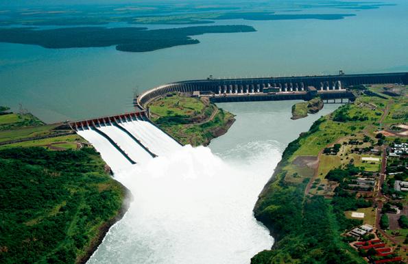 Itaipu galt lange als das größte Wasserkraftwerk der Welt.
