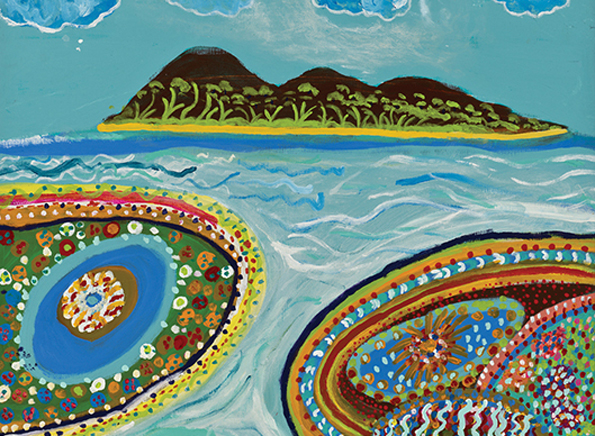 """Beim """"Cairns Indigenous Art Fair"""" sind Malereien der Aborigines - wie hier von Sue Pascoe - zu sehen."""