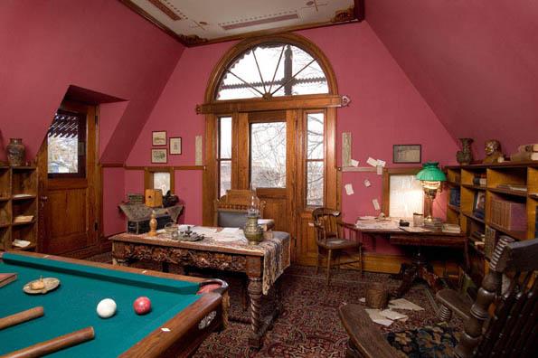 Das Billiardzimmer im Mark Twain House (Foto Mark Twain House & Museum)