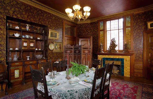 Das Speisezimmer im Mark Twain House (Foto Mark Twain House & Museum)