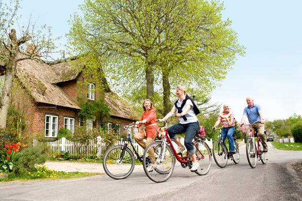 Idyllische Dörfer - wie hier in Oldsum - lassen sich bei der Inseltour erfahren. (Foto: Föhr Tourismus)