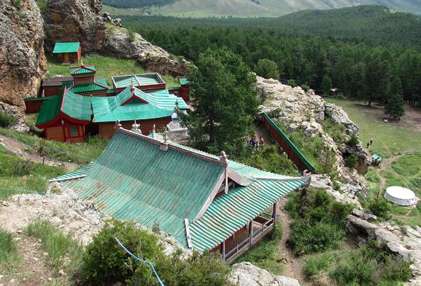 Eine der Landmarken der Mongolei: Das Tuvkhun Kloster.