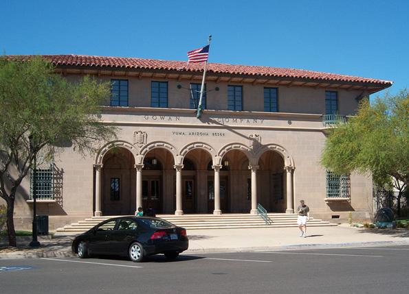 Yuma - hier das historische Postamt - gilt als sonnenreichste Stadt der USA.