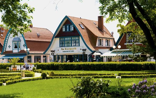 Das Vorzeigeareal rund um den Kurpark ist eines der Markenzeichen von Boltenhagen. (Fotos: Kurverwaltung Boltenhagen)