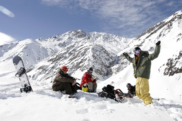 Während des europäöischen Sommers locken die Anden in Chile mit herrlichem Wintersportvergnügen.