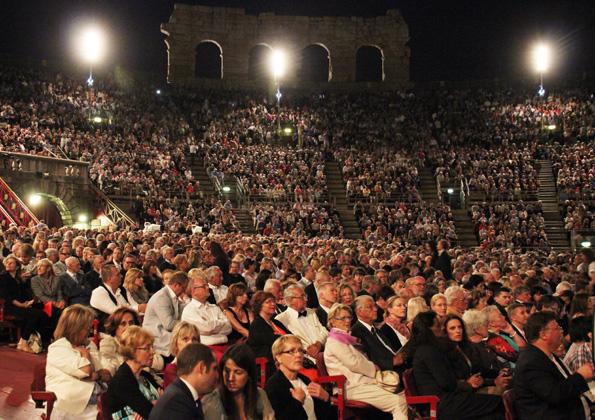 Prall gefüllt sind allabendlich zwischen Juni und September die Ränge und der Innenraum der Arena die Verona. (Foto: Ulrike Katrin Peters)