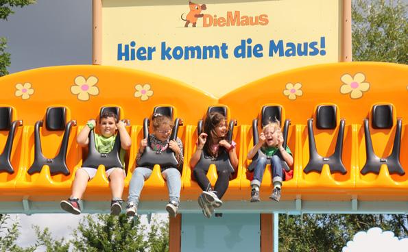 """Zum Schreien: Der Freifallturm """"Hier kommt die Maus"""". (Foto: Karsten-Thilo Raab)"""