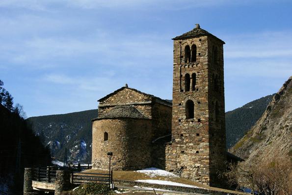 Eine der vielen prächtigen Kirchen in Andorra: Sant Joan de Caselles.