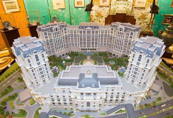 Noch Zukunftsmusik: Das Modell zeigt, wie das Lisboa Palace nach der Fertigstellung aussehen soll.