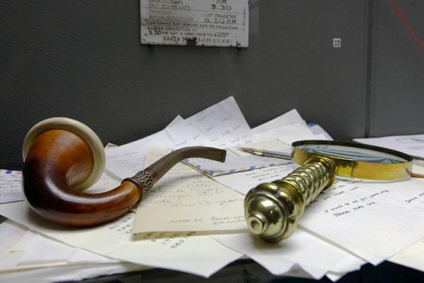 Viel Wissenswertes über die Romanfigur ist im Sherlock Holmes Museum zusammengetragen worden. (Foto: Udo Haafke)