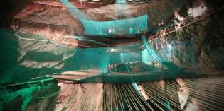 Erste unterirdische Trampolin der Welt in Wales
