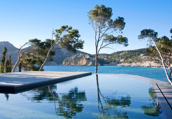Privates Badevergnügen in Camp de Mare auf Mallorca.