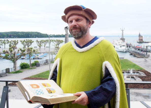So soll dereinst Ulrich Richental ausgesehen haben. (Fotos: Tourist Information Konstanz)