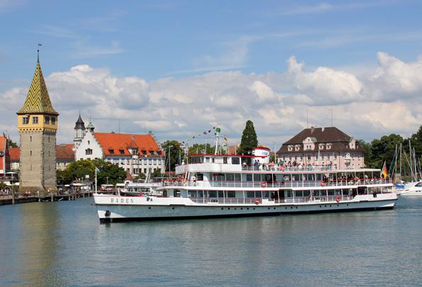 Ein überaus malerisches, zugleich sehr touristisches Fleckchen: Der Hafen der Insel Lindau. (Foto: Karsten-Thilo Raab)