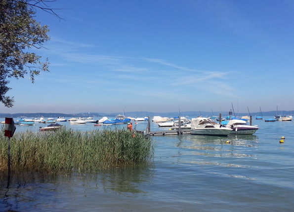 Eine herrliches Revier für Wassersportler: Der Bodensee bei Münsterlingen. (Foto: Karsten-Thilo Raab)