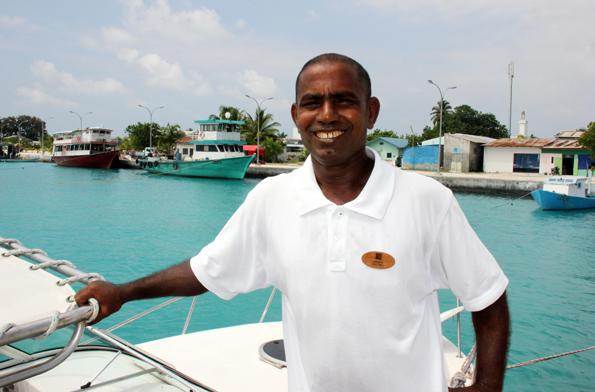 Mohammed Abdul Hammet im Hafen von Hinnavaru im Lhaviyani Atoll. (Foto: Karsten-Thilo Raab)