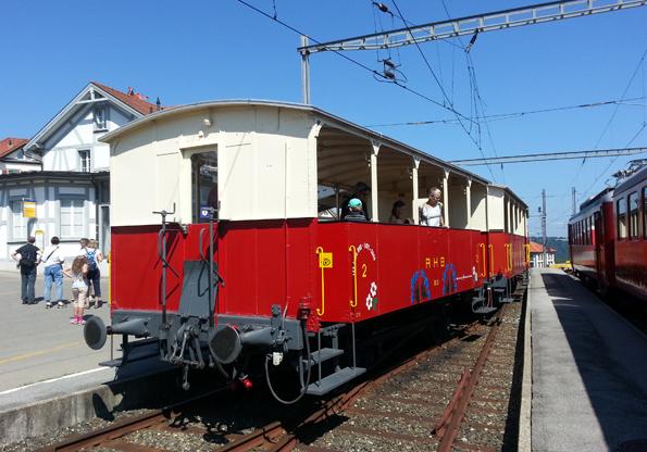 Die Rorschach-Heiden-Bahn bringt  die Spaßwanderer zum Startpunkt des Witzweges. (Foto: Karsten-Thilo Raab)