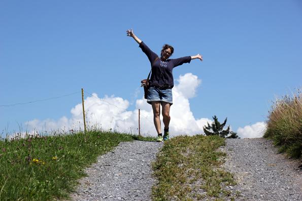 Ein Gute-Laune-Weg , der nicht arm an Höhenmetern ist: Der Witzweg. (Foto: Karsten-Thilo Raab)