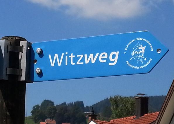Der gut ausgeschilderte Witzweg führt über 8,5 Kilometer von Heiden nach Walzenhausen. (Foto: Karsten-Thilo Raab)