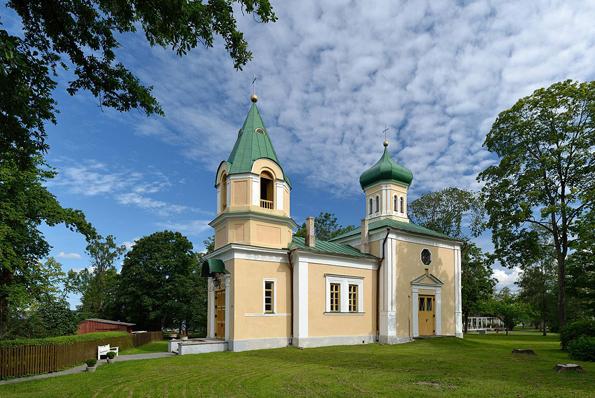 Einer der Blickfänge in   Haapsalu: Die Orthodoxe Kirche.