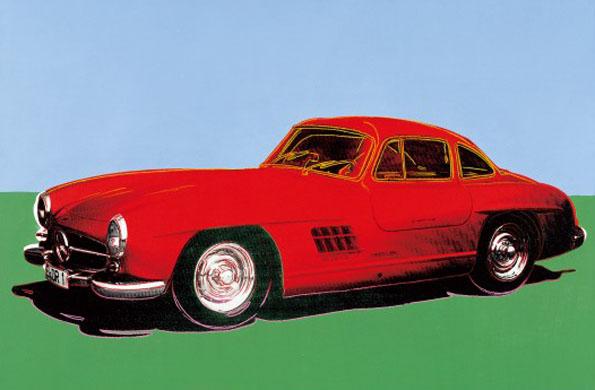 In Singen zu sehen: Andy Warhols Mercedes-Benz 300SL. (Foto Daimler AG)
