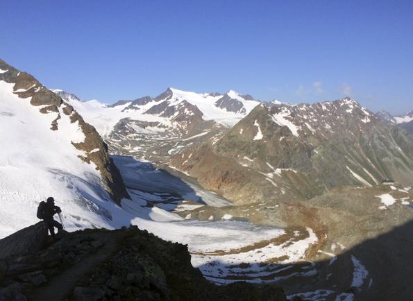 Morgenstimmung am Ötztaler Gletscher. (Foto: Tedda Roosen)