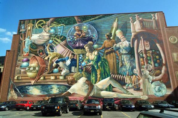 Seit mittlerweile drei Jahrzehnten zieren riesige Wandmalereien Häuserwände in Philadelphia.
