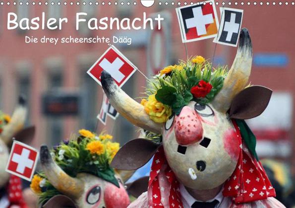 Ein sensationelles Erlebnis nicht nur für Karnevalisten ist die Basler Fasnacht - dieser Kalender zeigt Impressionen vom größten Volksfest der Schweiz.