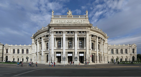 Weiterer Prachtbau an der Wiener Ringstraße: das Burgtheater. (Foto Thomas Ledl)