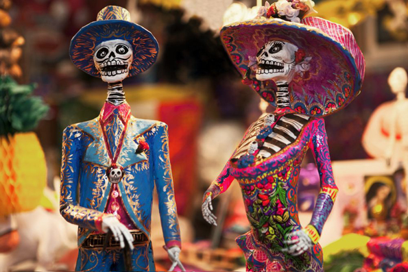 In Mexiko wird mit dem Día de los Muertos eine besondere Form des Totenkults gepflegt.