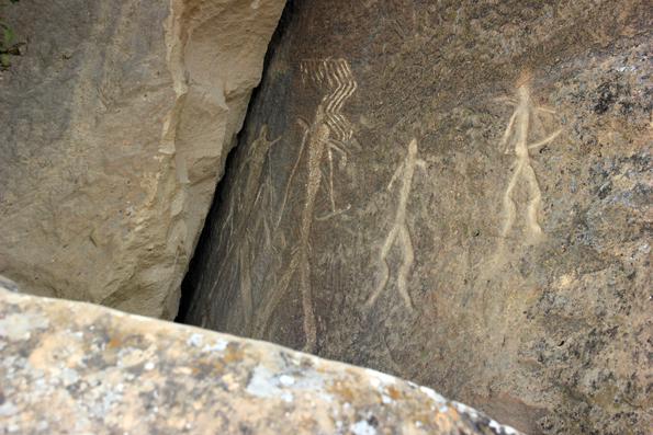 UNESCO-Weltkulturerbe: Die Felszeichnungen von Gobustan. (Foto Karsten-Thilo Raab)