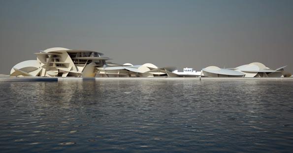 Setzt auch architektonisch Akzente: Das National Museum in Doha.