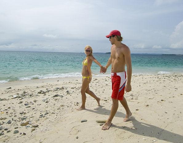 Wenig bekanntes Badeparadies vor der Pazifikküste Panamas: das Archipiélago de las Perlas, die Perleninseln.