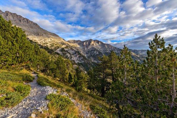 Eher für Anspruchsvollere: Der Weg zum Olymp, den höchsten Gipfel in Griechenland.