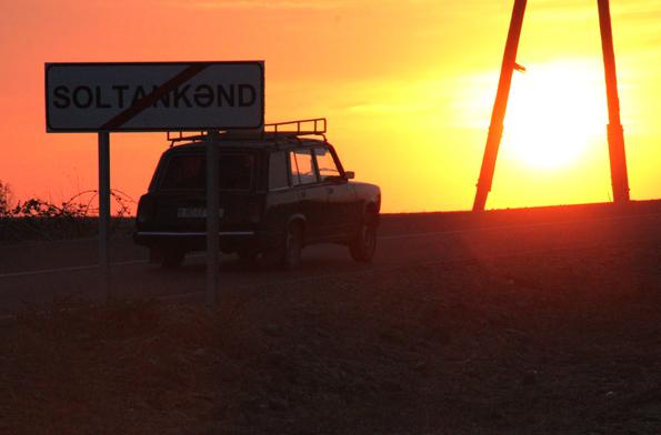 Stimmungsvoller Sonnenuntergang bei Soltankand. (Foto: Karsten-Thilo Raab)