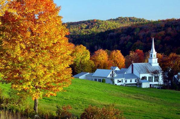 Stowe in Vermont - typisch Neuengland. (Foto Stowe Area Association)