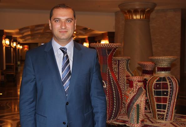 Rührt die Werbetrommel für sein Land: Vugar Shinkanmadov, PR-Chef des Tourismus Ministeriums. (Foto: Karsten-Thilo Raab)