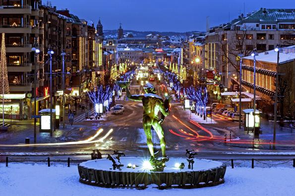 Vor allem in der Vorweihnachtszeit gibt sich das schwedische Göteborg äußerst stimmungsvoll. (Foto Goran Assner)