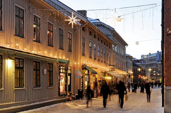 In der Vorweihnachtszeit zeigt sich die Göteborger Altstadt von ihrer schönsten Seite. (Foto Goran Assner)