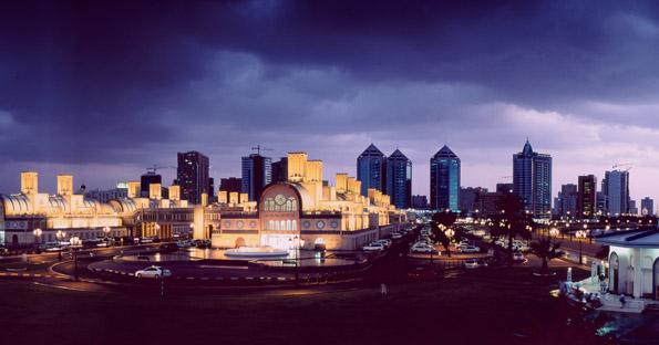 Prächtige Kulisse: Die Skyline von Sharjah-Stadt.