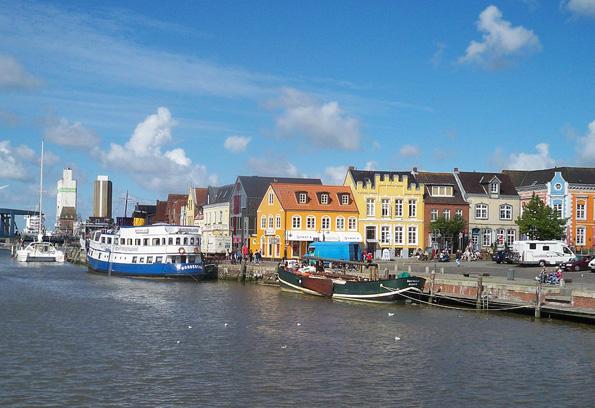 Hafenidylle am Husumer Innenhafen.