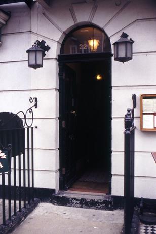 Der Eingang zu Sherlock Holmes vermeintlicher Wohnung.