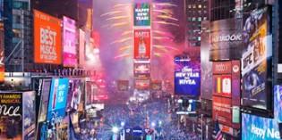 New York begrüßt das neue Jahr mit gigantischer Feier am Times Square