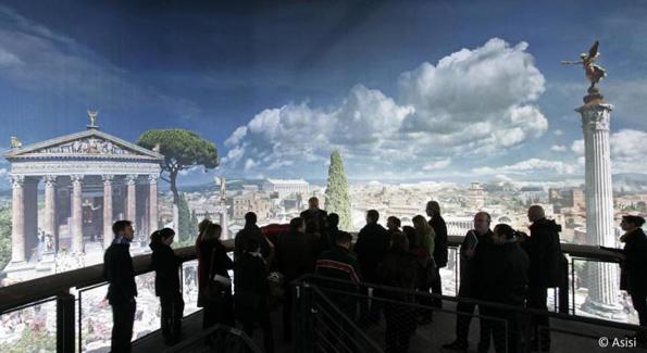 Mit gigantischen Bildern lädt das Panorama zu einer spannenden Entdeckungsreise ein.