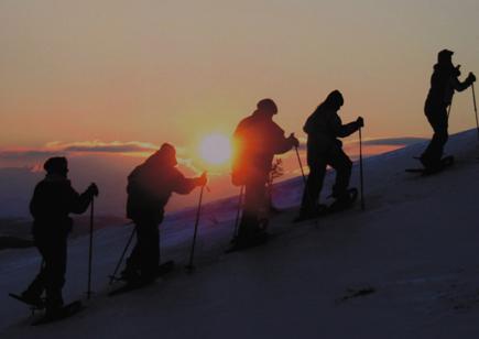 Ideales Revier für ausgedehnte Schneeschuhwanderungen: Das norwegische Gålå.