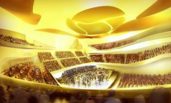 Der große Konzertsaal der Pariser Philharmonie bietet 2400 Besuchern Platz. (Fotr Didier Ghislain)