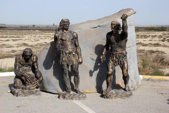 Skulptur am Eingang zum Gobustan National Park. (Foto Karsten-Thilo Raab)