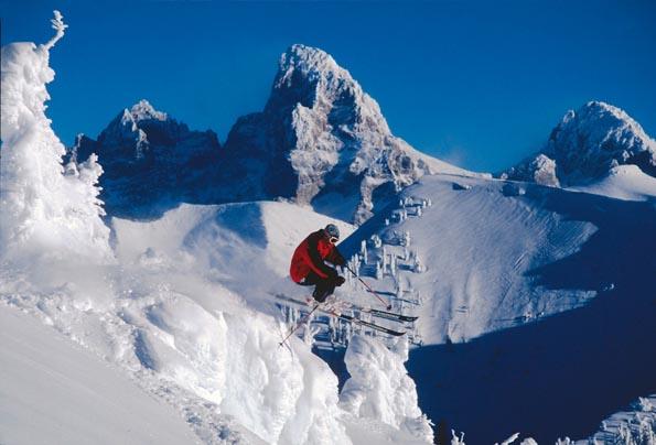 Traumhafte Bedingungen finden Wintersportler in Idaho wie hier am Grand Targhee. (Foto Grand Targhee Resort)